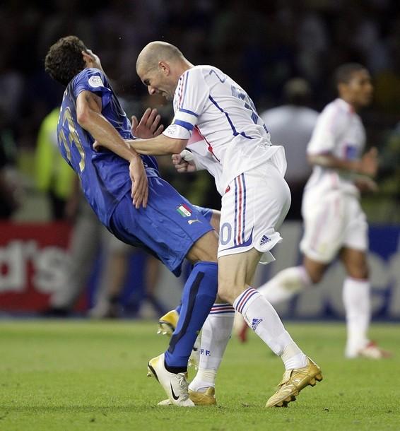 Zinedine Zidane y su famoso cabezazo a Materazzi.