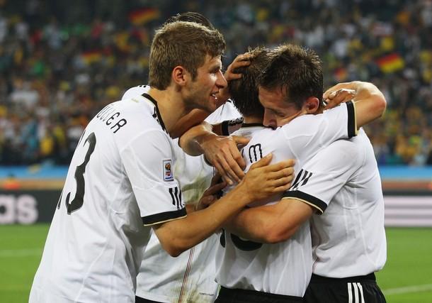 El cuadro alemán festejó su convincente victoria.