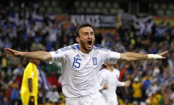 Vasilis Torosidis marcó el tanto de la victoria griega.