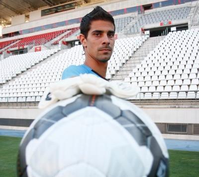 Dani Hernández, portero del Murcia español.
