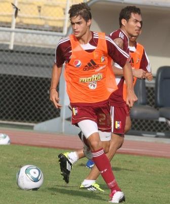 Manuel Arteaga entrenó con la vinotinto la semana pasada.