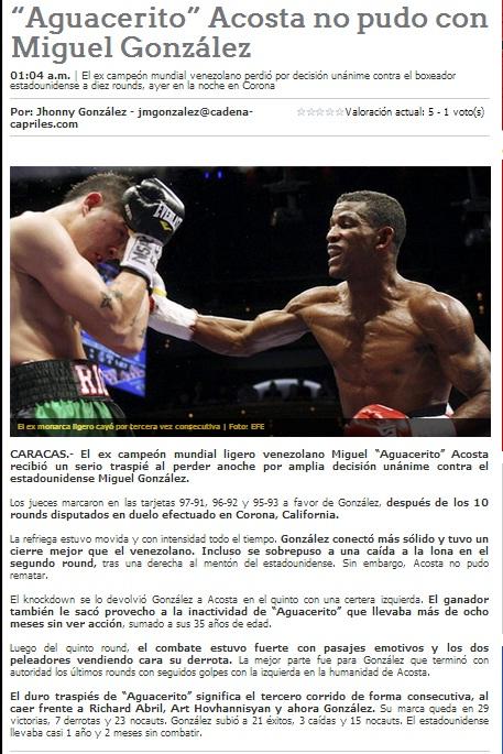 Nota capturada de la página web de Líder en Deportes.