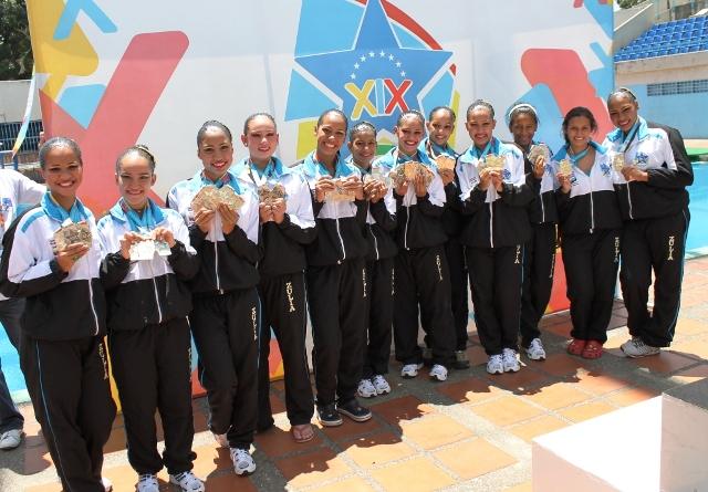 La representación zuliana de nado sincronizado arrasó en los Juegos Nacionales.