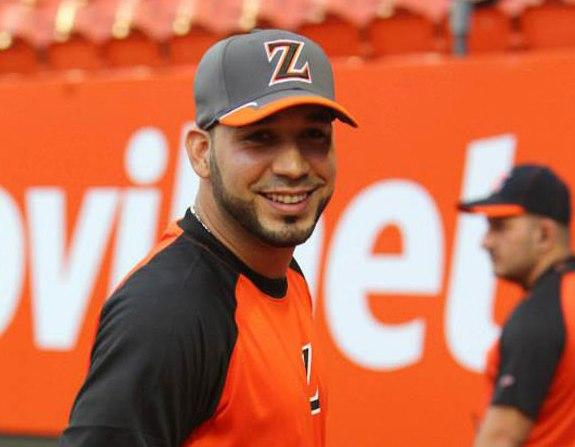 Marwin González ya luce el uniforme zuliano.