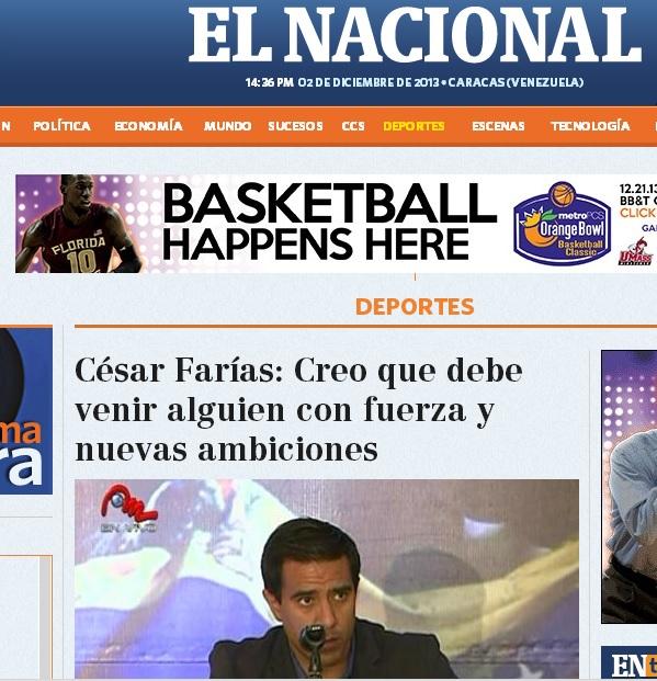 El Nacional diario capitalino de circulación nacional.