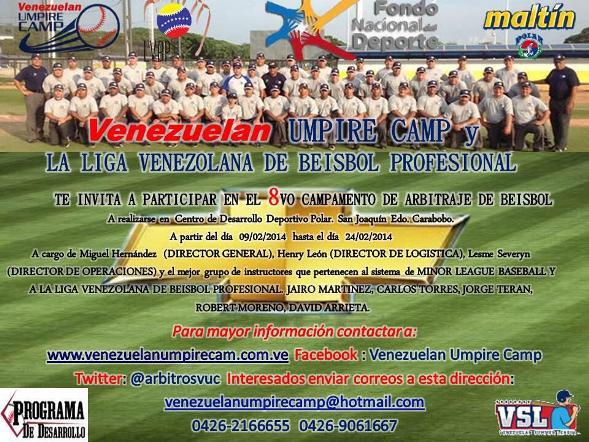 Venezuelan Umpire Camp.