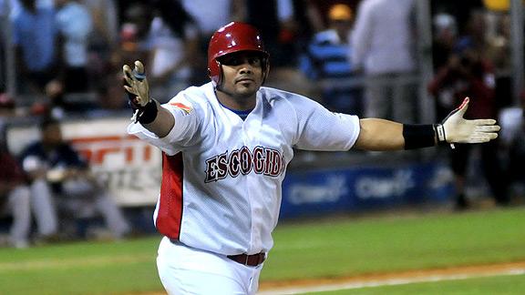 Brayan Peña fue clave en la victoria del Escogido.
