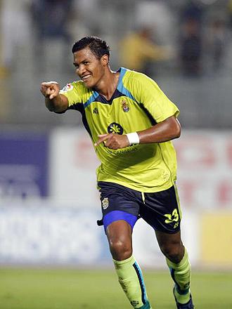 El goleador criollo sigue celebrando en España. Ya suma cuatro conquistas. Foto: Archivo