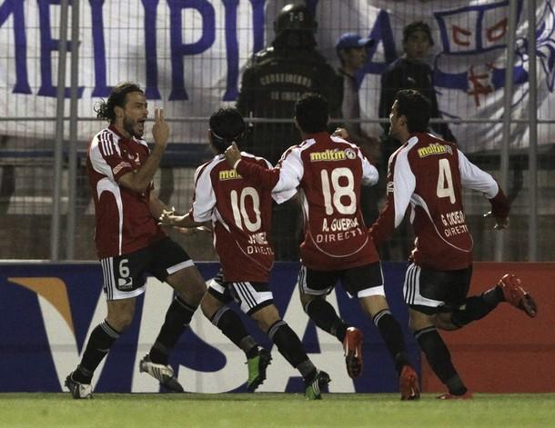 A pesar deñ gol de Bustamante, los rojos no pudieron celebrar el triunfo.