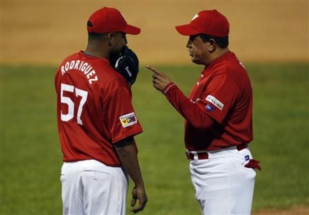 El estelar cerrador Francisco Rodríguez jugó con Hugo Chávez.