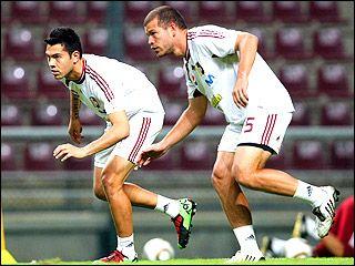 Miku Fedor y Alejandro Moreno irán en la delantera criolla. Foto: Líder en deportes