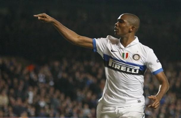 El camerunés Samuel Eto'o mantuvo con vida al único equipo italiano en la Champions.