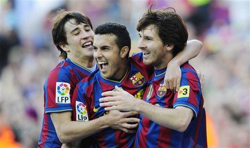 Pedro, Bojan y Messi fueron los artífices del triunfo catalán.