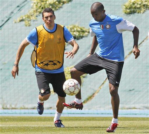 Samuel Eto'o estará en la delantera del Inter del Milan.