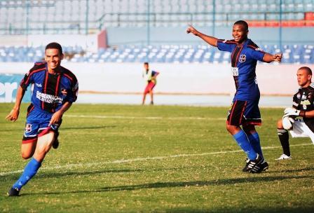 Gustavo Rojas celebró su gol ante el rojo. Foto: Iván Lugo