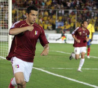 Nicolás Fedor abrió la cuenta para Venezuela.