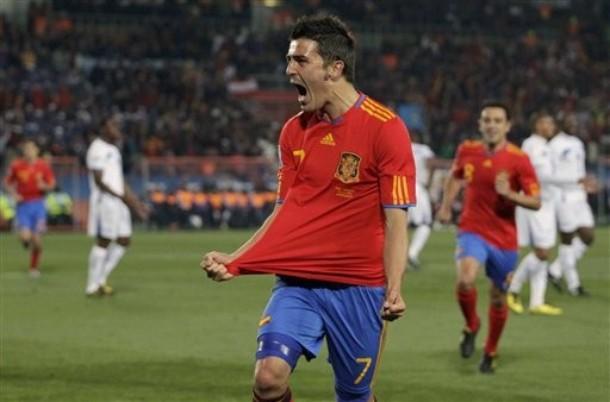 David Villa ha cargado con el peso ofensivo español.