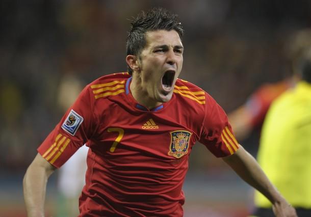David Villa marcó su cuarto gol del Mundial.
