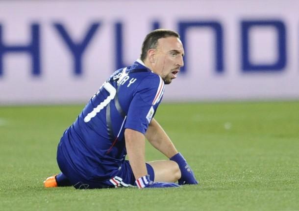 Franck Ribery lamentó la situación de la selección de Francia.