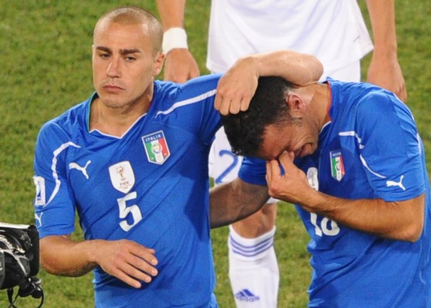 Los italianos salieron llorando tras su eliminación.