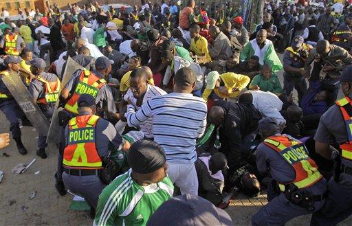 Una estampida dejó 15 heridos el pasado domingo y alertó a la Fifa.
