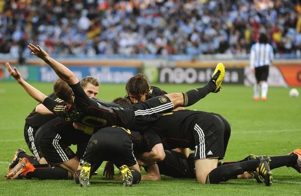 Los alemanes disfrutaron la goleada sobre Argentina.