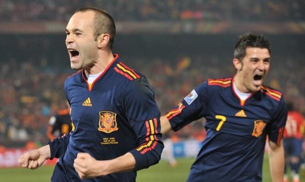 Andrés Iniesta marcó el tanto que tituló a los españoles.