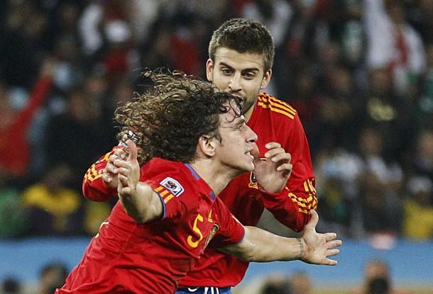 Carles Puyol marcó el tanto de la victoria ibérica.