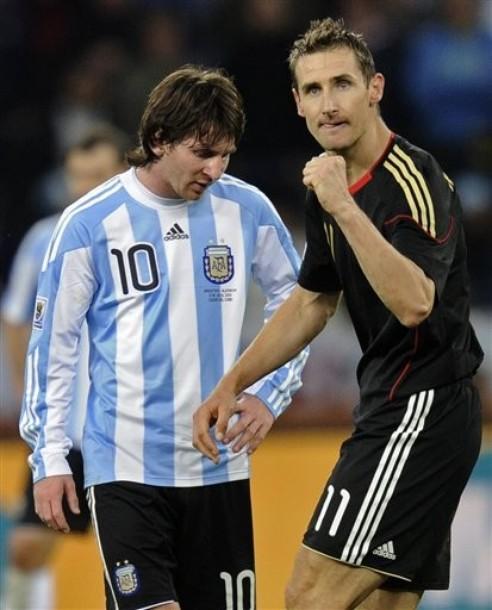 Miroslav Klose anotó dos y quedó a uno de Ronaldo. Messi se fue sin goles.