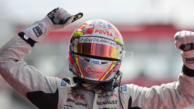 Pastor Maldonado está firme en el liderato de la categoría.