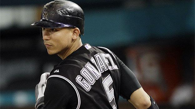 Carlos González está aumentando sus números.