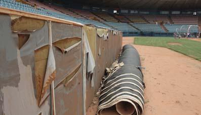 Las instalaciones del Luis Aparicio están deterioradas. Foto: Edward Perdomo/La Verdad