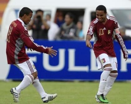 José Reyes y Yohandry Orozco han marcado los goles criollos.