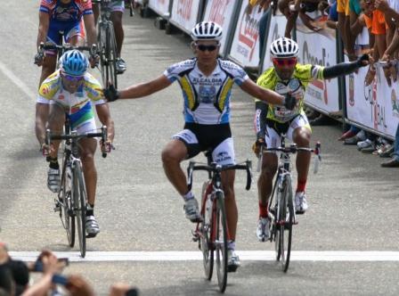Miguel Chacón ganó la etapa.