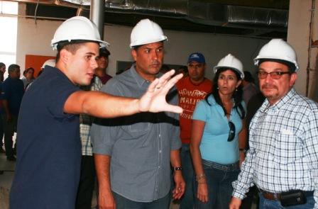 El gobernador Pablo Pérez inspeccionó la obra.