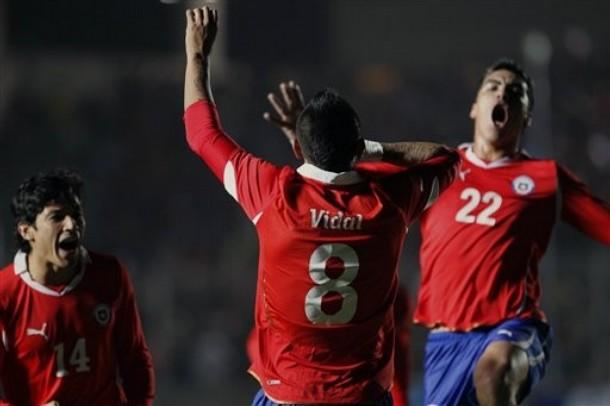 Los chilenos celebraron su victoria.