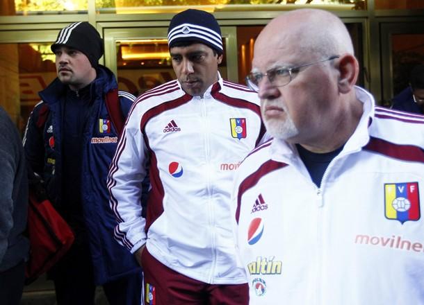 César Farías y Lino Alonso declararon con fuerza en la rueda de prensa.
