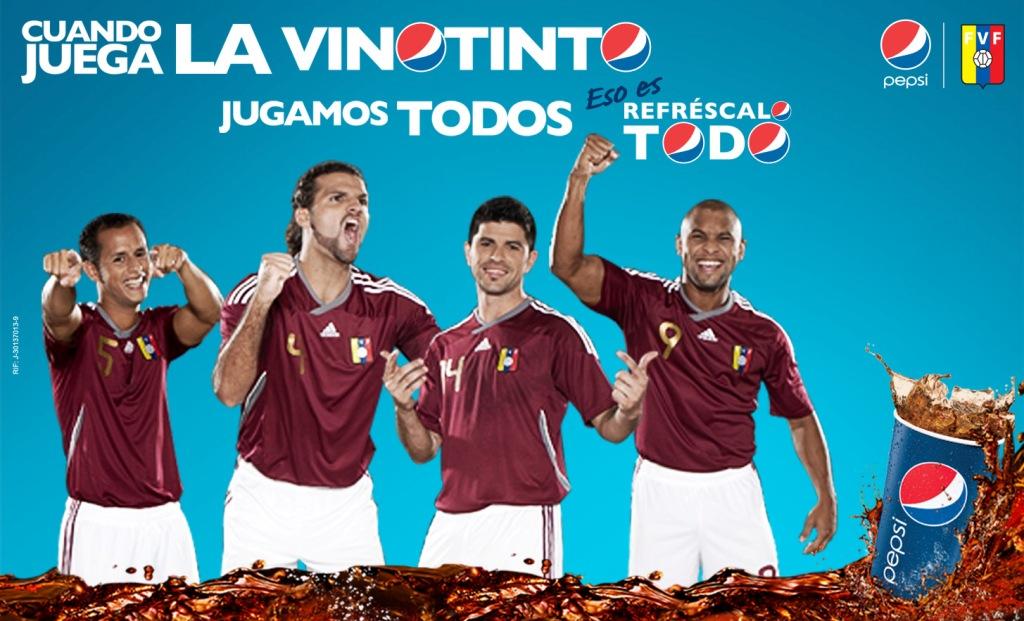 La marca Pepsi apoya a la vinotinto.