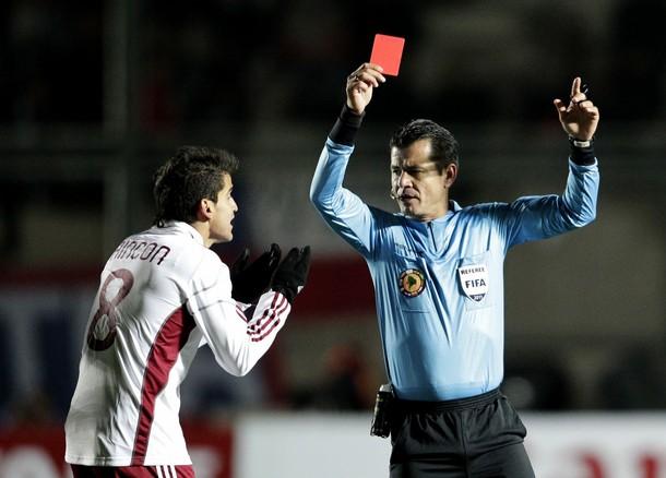 Tomás Rincón no podrá disputar la semifinal por la expulsión.