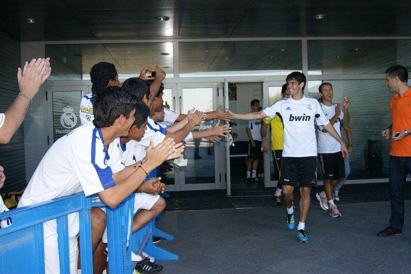 Los jóvenes venezolanos compartieron con estrellas como Kaká.