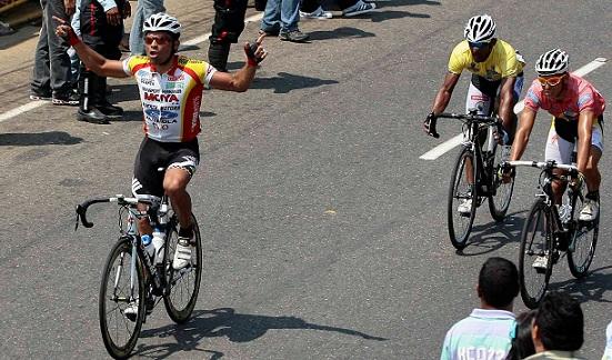 Jesús Pérez se impuso en la segunda etapa del giro zuliano.