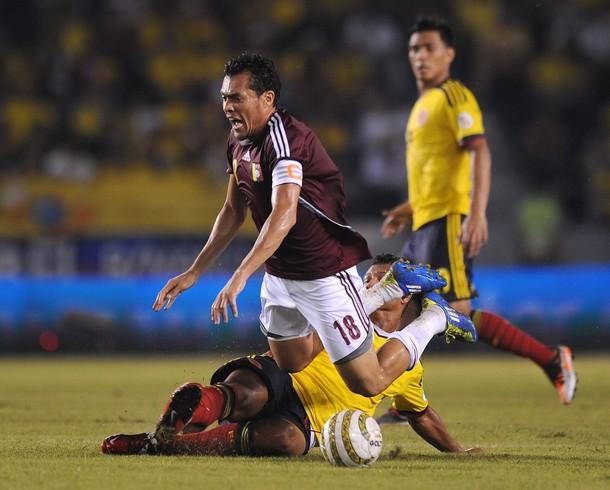 Juan Arango fue uno de los mejores de la cancha para Venezuela.