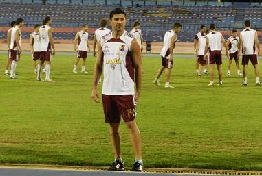 Franklin Lucena fue el único que no pudo entrenar con normalidad en Maracaibo.