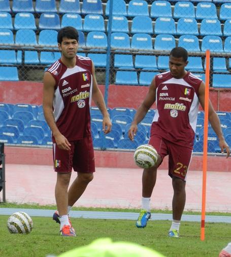 Miku Fedor y Salomón Rondón en su último día en Maracaibo.