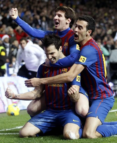 El Barcelona volvió a celebrar ante el Real Madrid.