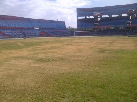 """Así está la grama del """"Pachencho"""" Romero. Foto tomada el 16/01/2012."""