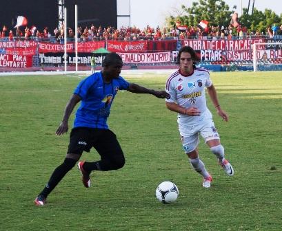 Jamerson Rentería se comió dos goles ante Caracas. Foto: Ma. José Ramírez.