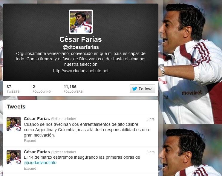 La cuenta de Farías superó rápidamente los 10 mil seguidores.