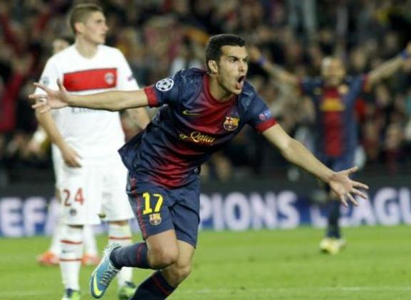 Pedro marcó el tanto que significó la clasificación del Barcelona.