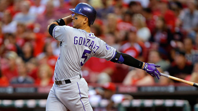 Carlos González dio muestras de su poder.